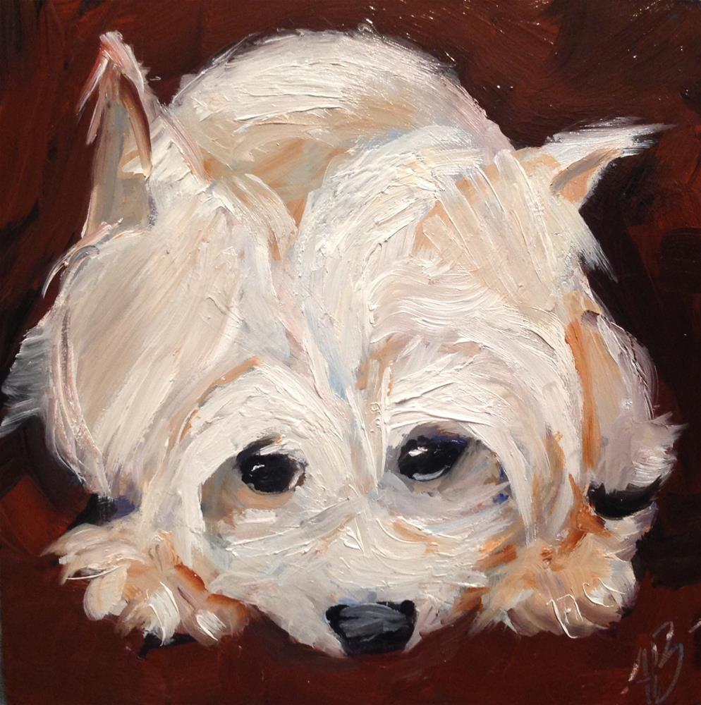 """""""Sorry I was naughty"""" original fine art by Annette Balesteri"""