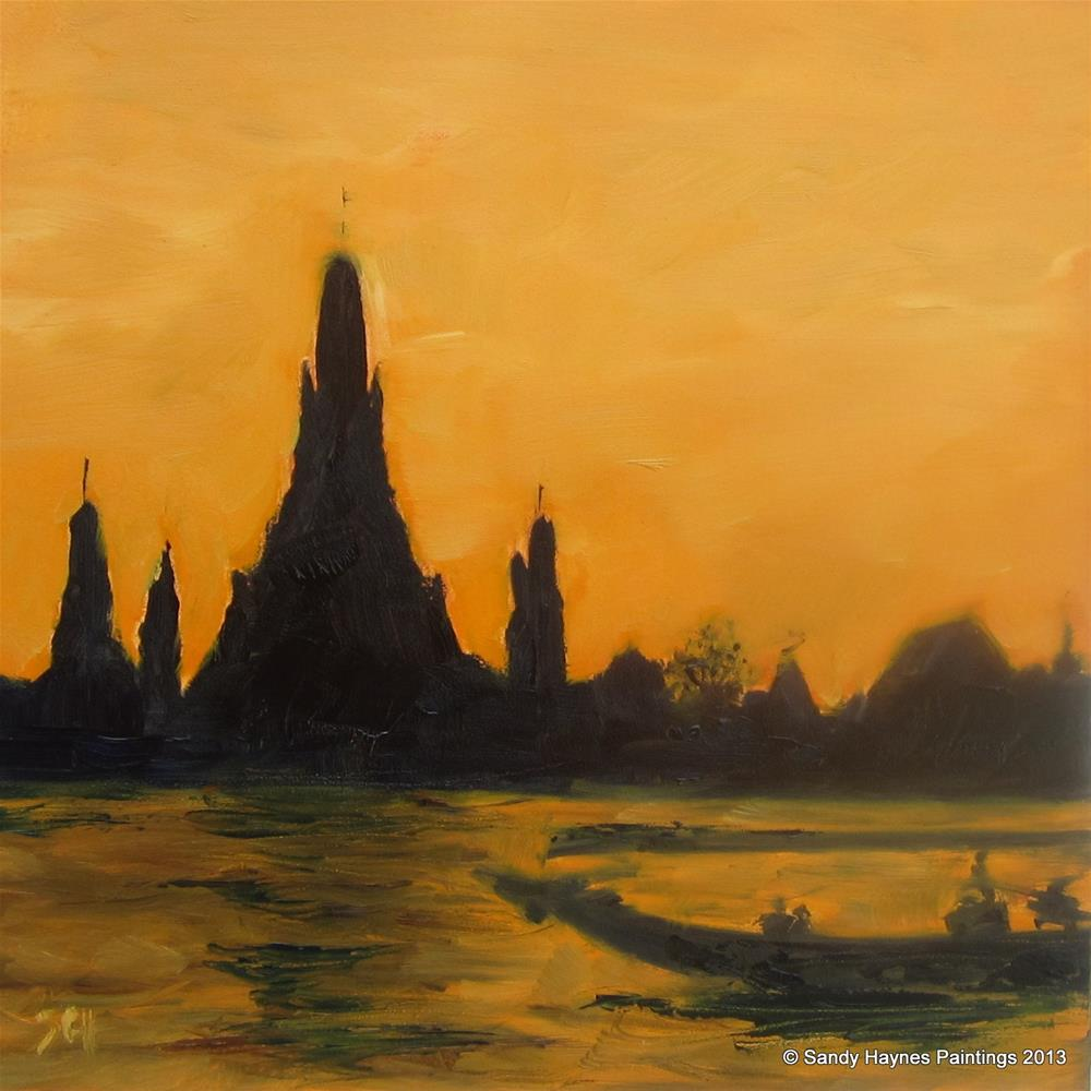 """Thailand ? #140"" original fine art by Sandy Haynes"