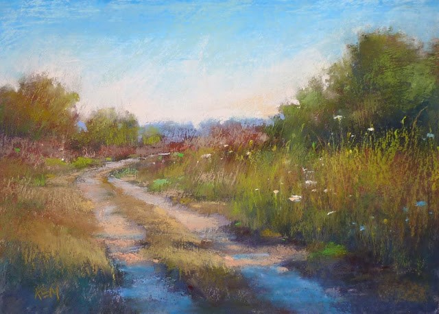 """Behind the Scenes: Landscape on a Textured Surface"" original fine art by Karen Margulis"