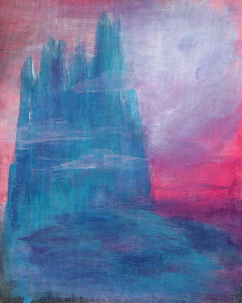 """Blue Castle"" original fine art by Alina Frent"