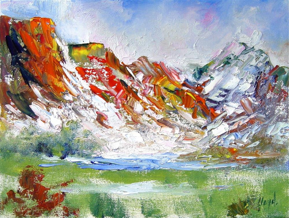 """""""Sun and Snow in Zion National Park"""" original fine art by Diane Lloyd"""