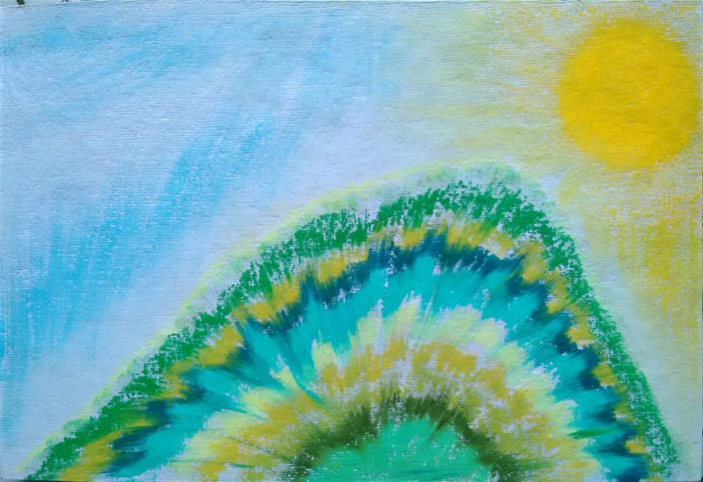 """Arunachala Shines"" original fine art by Adéla Svobodová"