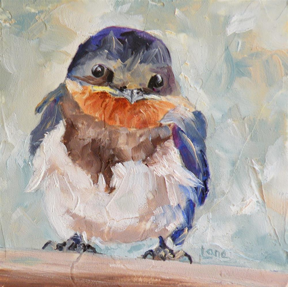 """BABY SWALLOW ORIGINAL ETSY MINI © SAUNDRA LANE GALLOWAY"" original fine art by Saundra Lane Galloway"