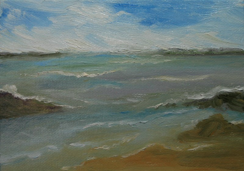 """""""Colors of the Sea"""" original fine art by Jean Nelson"""