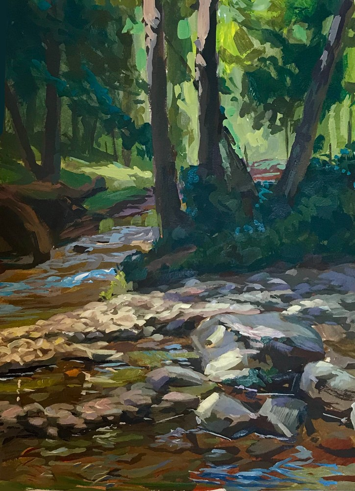 """Rivers Converge"" original fine art by Chris Greco"