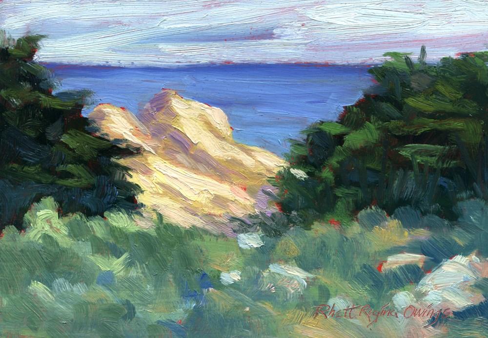 """""""Ocean Boulders"""" original fine art by Rhett Regina Owings"""