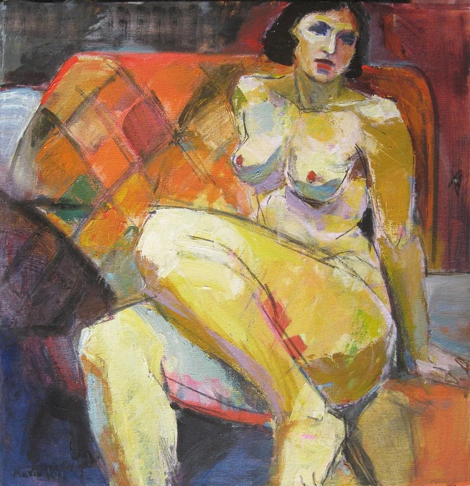 """Nude Woman Reclining, figure study, female figuration, contemporary figure painter, woman art, class"" original fine art by Marie Fox"