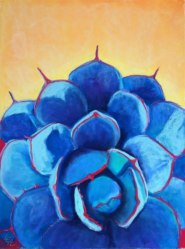 """Morning Agave Star"" original fine art by Anna Lisa Leal"