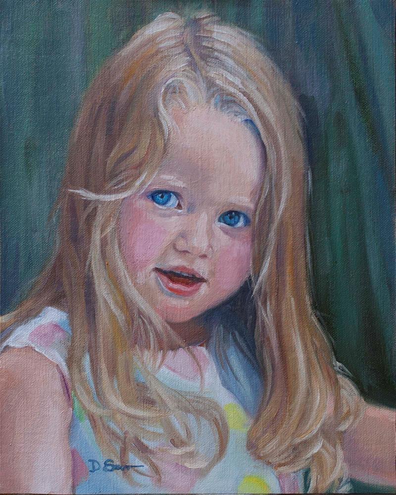 """""""Maddie"""" original fine art by Deborah Savo"""
