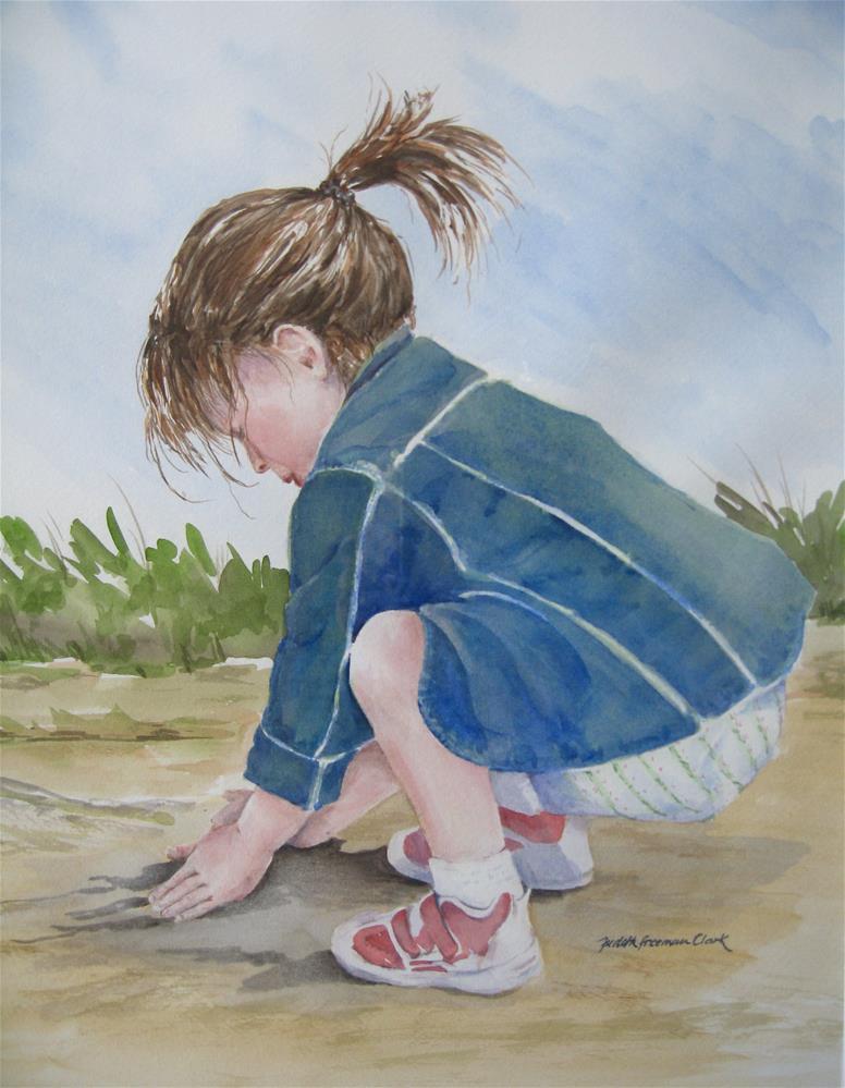 """Mud Pies"" original fine art by Judith Freeman Clark"