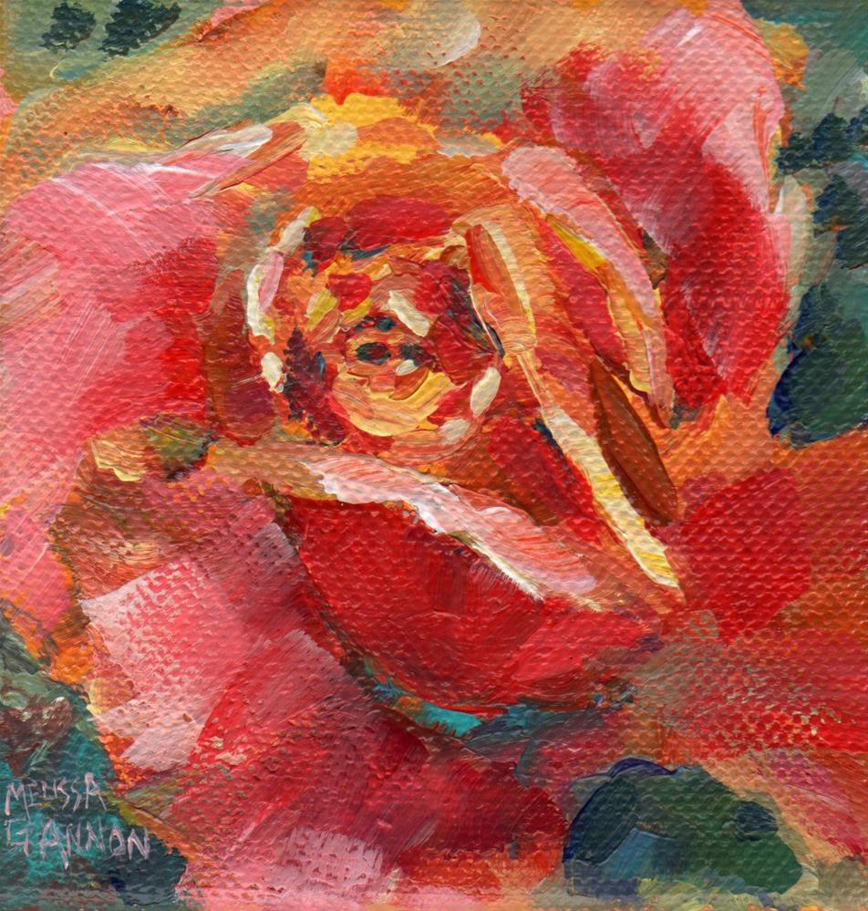 """""""Orange Rose"""" original fine art by Melissa Gannon"""