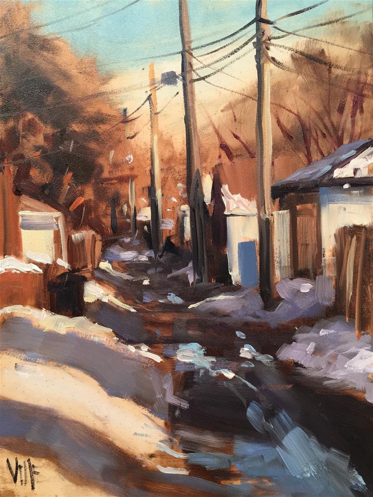 """#296 St Paul Alley"" original fine art by Patty Voje"