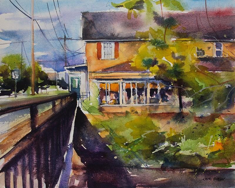 """""""Creekview"""" original fine art by Chris Breier"""