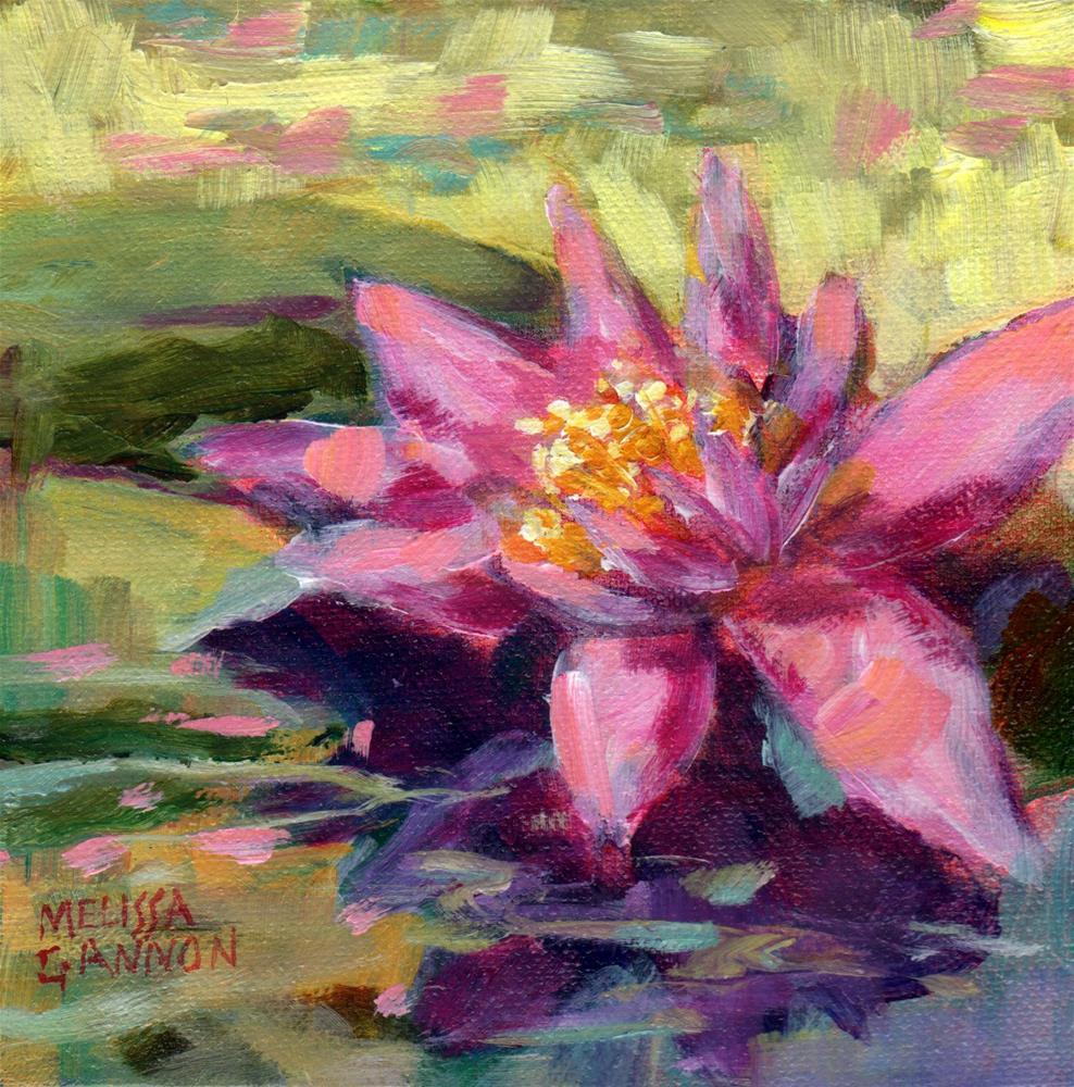 """Feel the Sun See the Waterlily"" original fine art by Melissa Gannon"