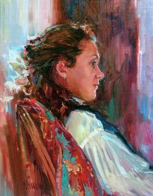 """Reverie"" original fine art by Mary Maxam"