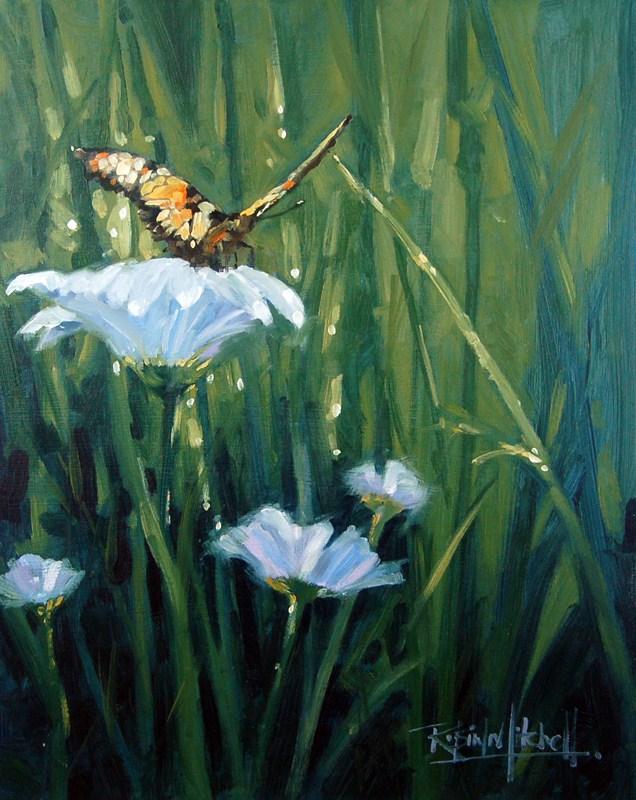 """No 472 Garden Jewel"" original fine art by Robin J Mitchell"