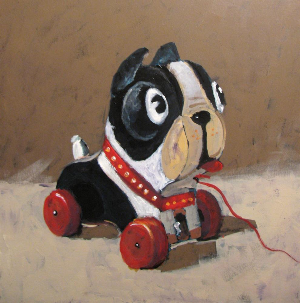 """Barky"" original fine art by Susan Elizabeth Jones"