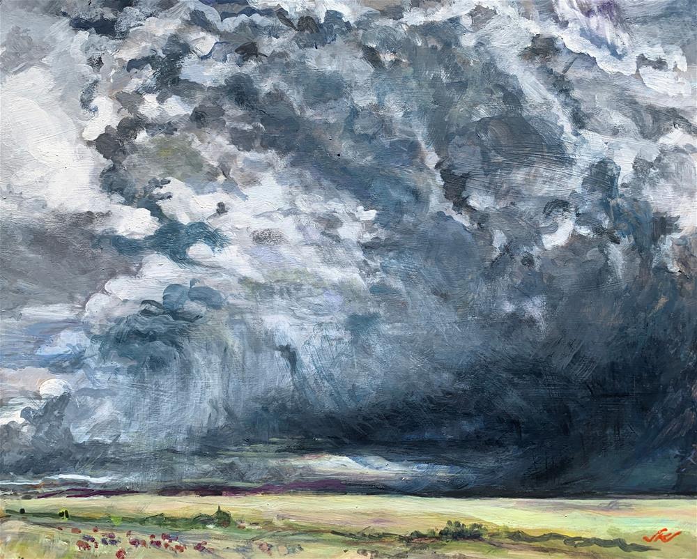 """""""CR 119 Looking Northeast, Wesstcliffe, CO"""" original fine art by Jean Krueger"""