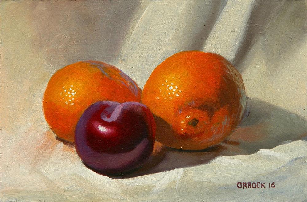"""""""Warm fruit"""" original fine art by Peter Orrock"""