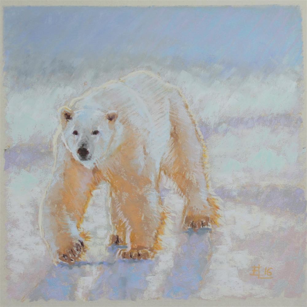 """Polar Bear Challenge"" original fine art by Emilia Leinonen"
