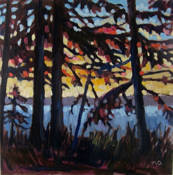 """In Shadows and Sunsets"" original fine art by Nicki Ault"