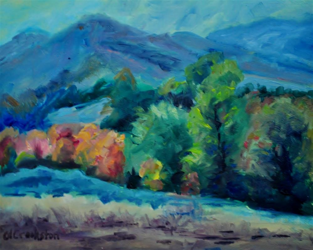 """Looking East up Deep Creek"" original fine art by Catherine Crookston"