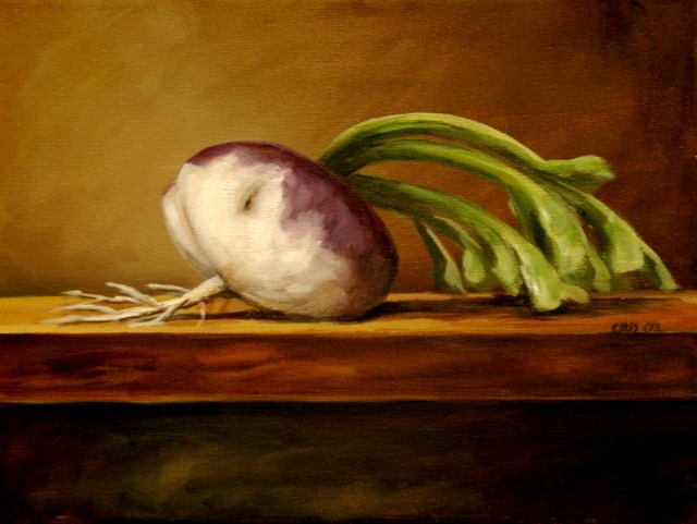 """Turnip after Redon"" original fine art by Christina Dowdy"