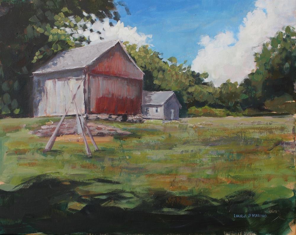 """Still Standing, Madison Barn"" original fine art by Linda Marino"