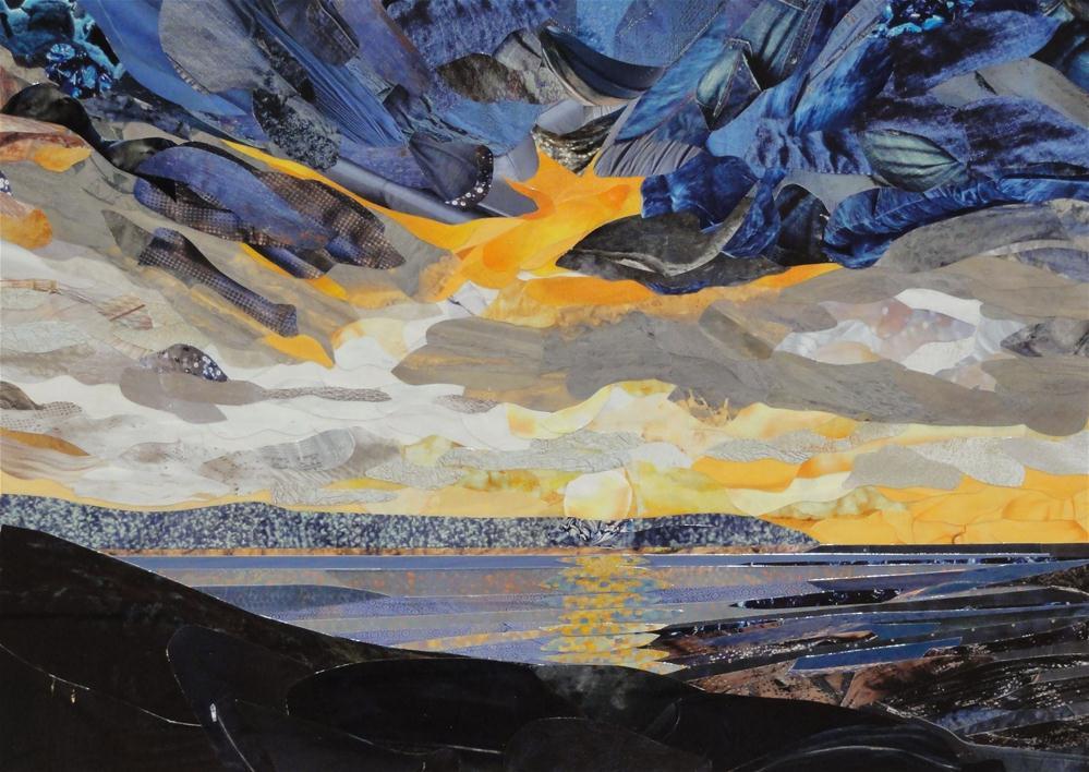 """Sunset Across the Gulf"" original fine art by Cynthia Frigon"