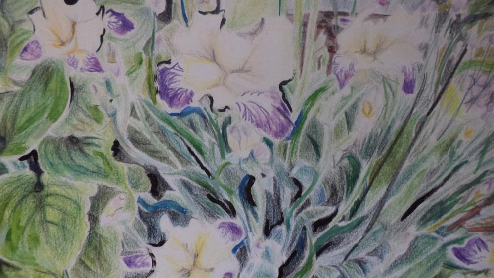 """Spring Time Flowers in purple and yellow"" original fine art by tara stephanos"
