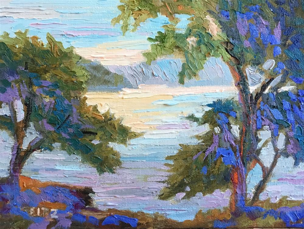 """French Riviera"" original fine art by Charlotte Fitzgerald"