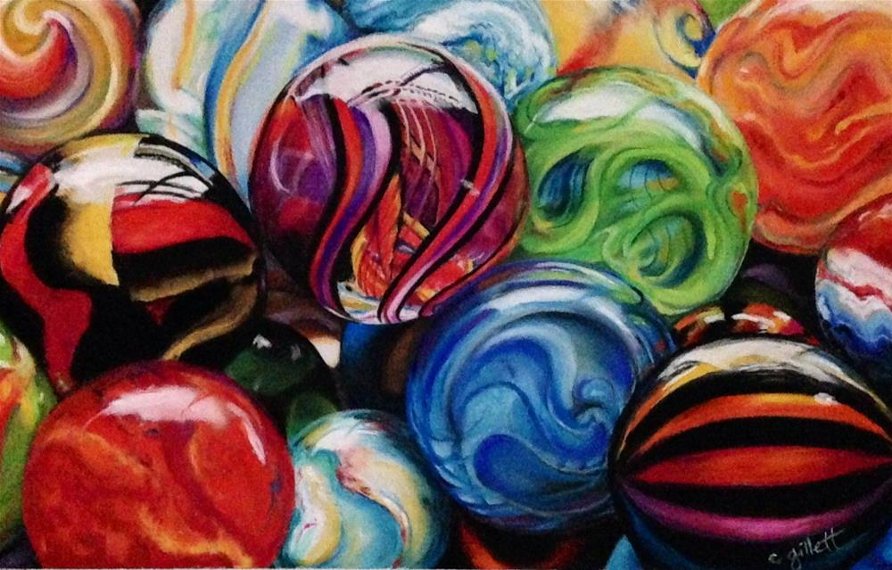 """I've Lost My Marbles"" original fine art by Cindy Gillett"