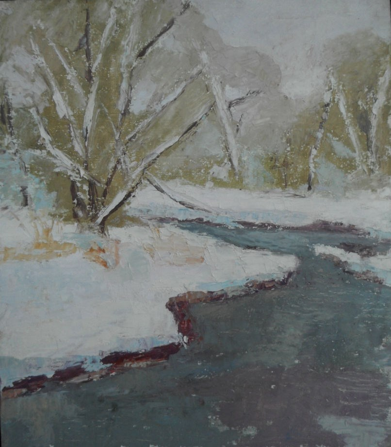 """Snow Study"" original fine art by Michael McConnell"