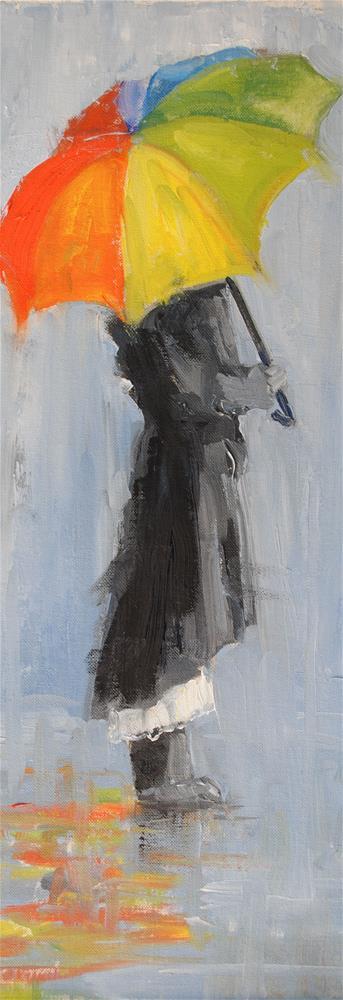 """Rainy Day"" original fine art by Nan Perry"