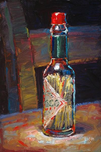 """Toothpicks in Tabasco"" original fine art by Raymond Logan"