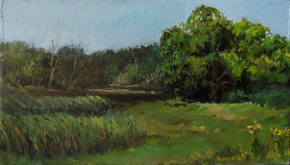 """Baker's Lake Day 2"" original fine art by Edward Watson"