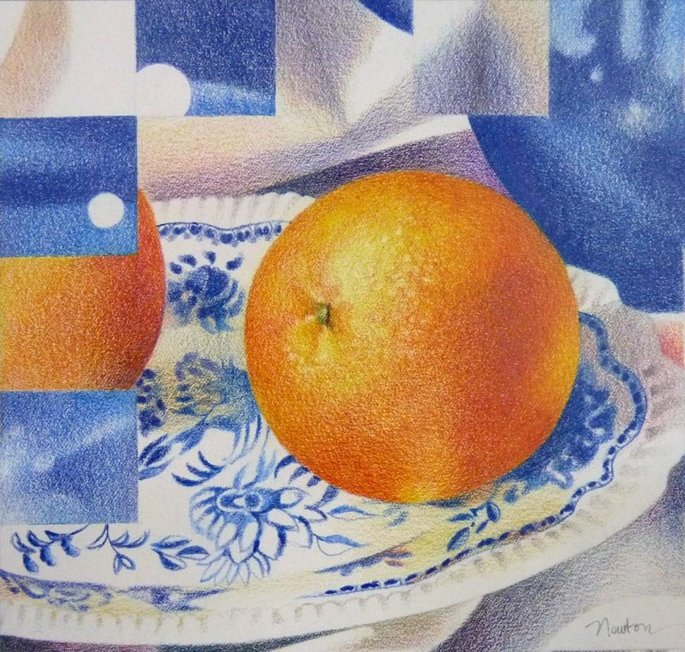 """""""Orange Squared"""" original fine art by Barbara Benedetti Newton"""