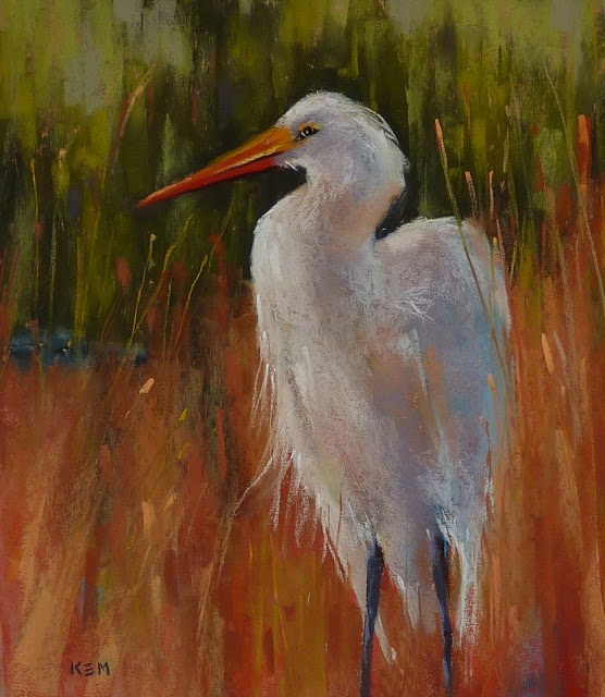 """Great Egret Painting Step by Step Demo"" original fine art by Karen Margulis"
