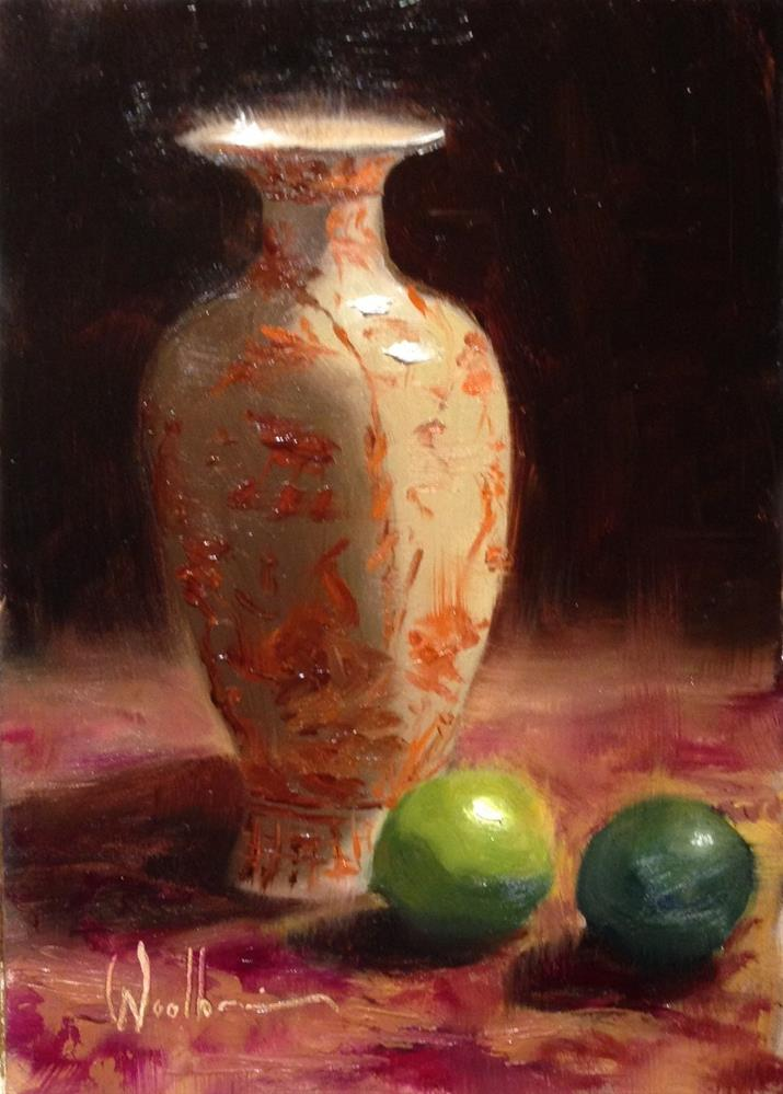 """""""Chinese Urn and Limes"""" original fine art by Dorothy Woolbright"""