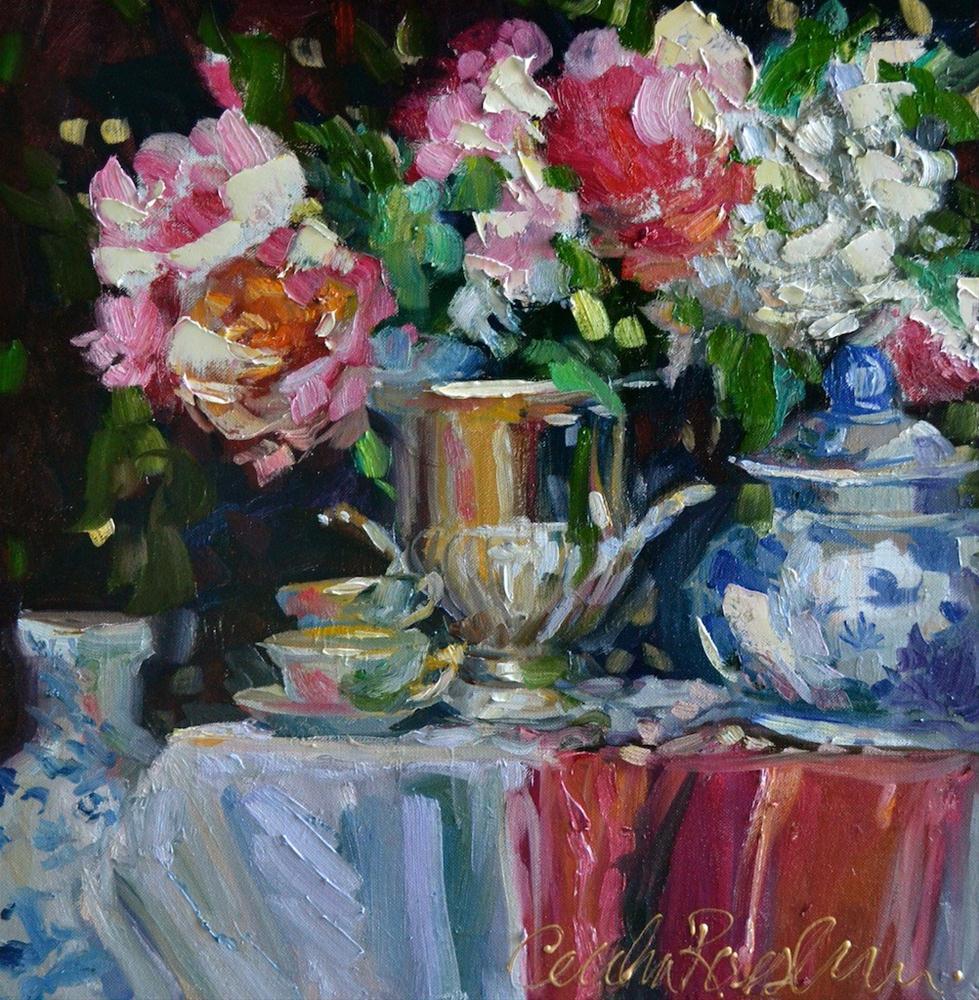 """SILVER URN"" original fine art by Cecilia Rosslee"