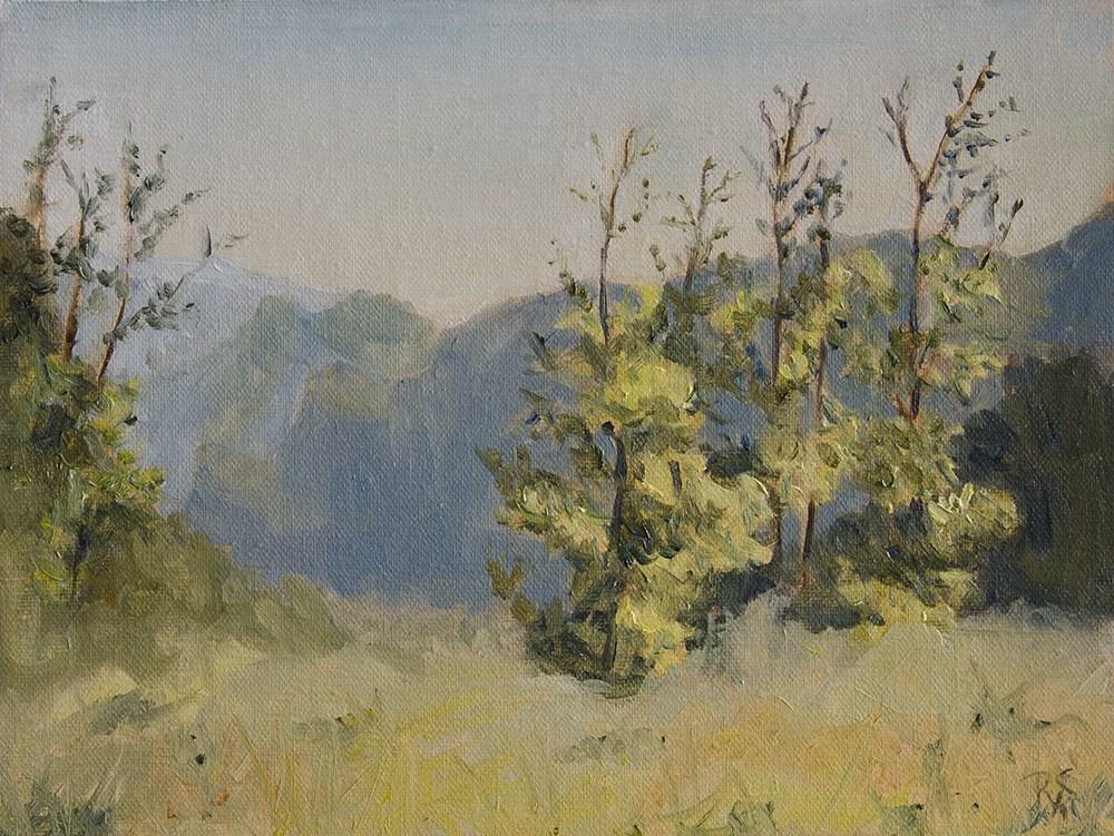"""Away from the Lake"" original fine art by Rachel Steely"