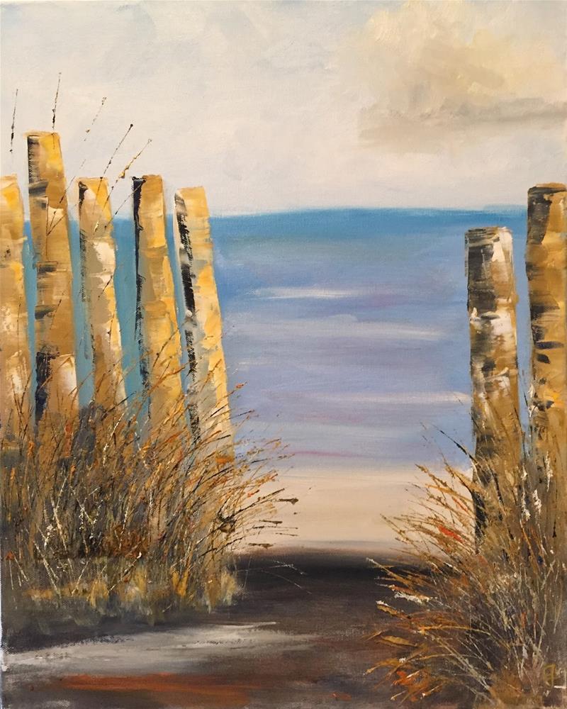 """""""The Path"""" original fine art by Gayle Lambeth"""