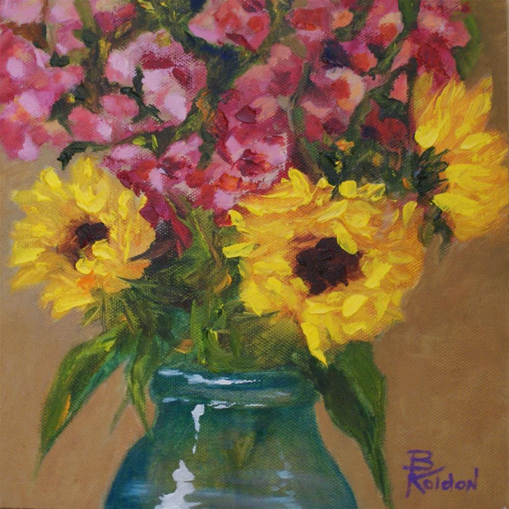 """Close Up Sunflowers"" original fine art by Beverly Koldon"