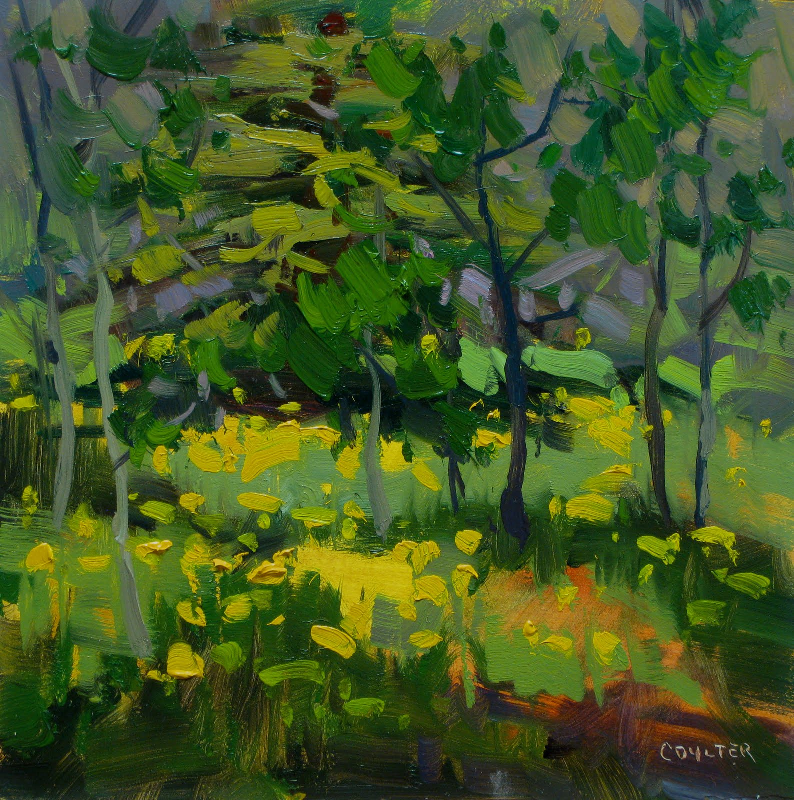 """SOFT YELLOW MORNING"" original fine art by James Coulter"