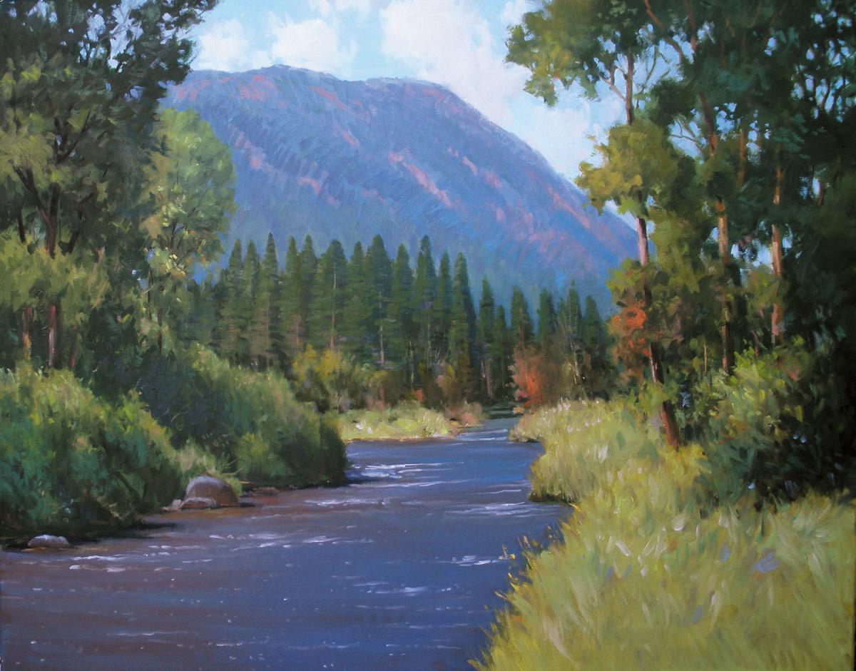 """On the River"" original fine art by David Forks"