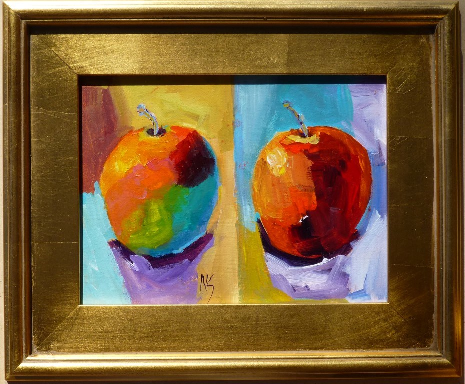 """More Apples 14072"" original fine art by Nancy Standlee"