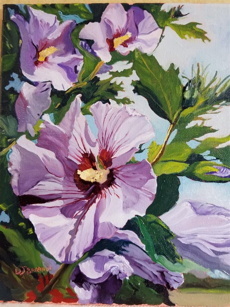 """Rose of Sharon"" original fine art by Douglas Barron"
