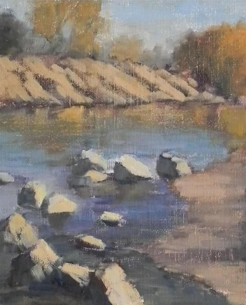 """At the American River"" original fine art by Barbie Smith"