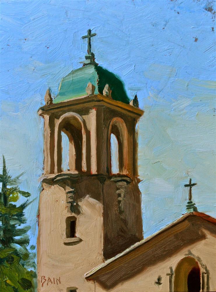 """St. Nicolas, Los Altos"" original fine art by Peter Bain"