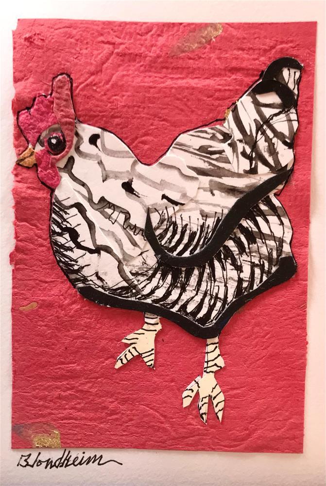 """""""Rock Hen"""" original fine art by Linda Blondheim"""